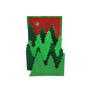 Christmas Tree Card From Natural Lokta Paper - christmas card packs