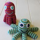Handmade Knitted Pink Octopus Rattle