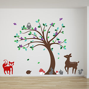 Children's Tree And Animals Wall Stickers - wall stickers