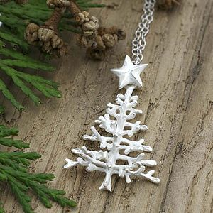 Sterling Silver Christmas Tree Necklace