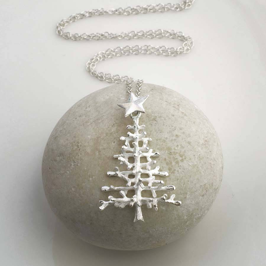 Sterling silver christmas tree necklace by martha jackson for Sterling silver christmas jewelry