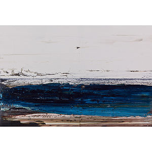 Dark Blue Sea Miniature Painting - paintings & canvases