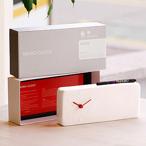 Two In One Ceramic Desk Memo Clock - clocks