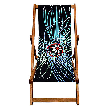 Deckchair Ultravoilet Jellyfish By Jacqueline Hammond for Smart Deco Style
