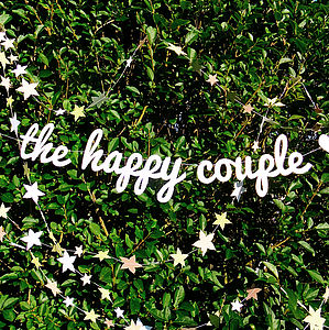 'The Happy Couple' - outdoor decorations