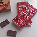 Christmas Chocolate Greetings Card
