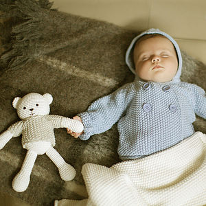 New Baby's Cardigan And Teddy Gift Set - clothing