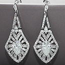 Art Deco Vintage Style Crystal Earrings