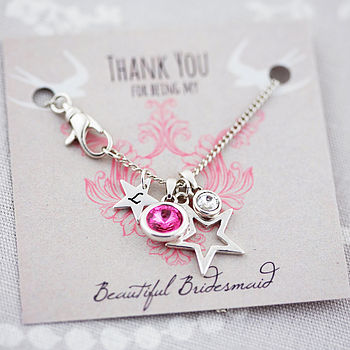 Personalised Swarovski Charm Necklace