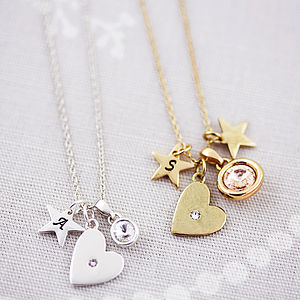 Design Your Own Personalised Heart Necklace - gifts for her