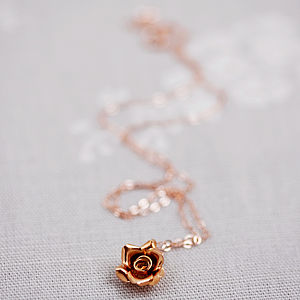 Rose Gold Wild Rose Necklace - necklaces & pendants