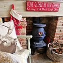 Personalised Fireside, Firepit Or Bbq Sign