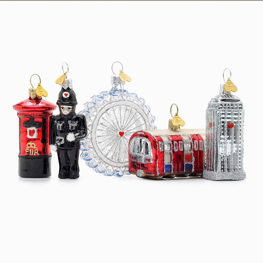 little london2 glass christmas decoration by bombki ...