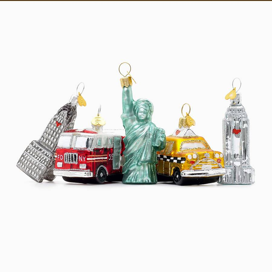 Little ny christmas decoration by bombki for Decoration new york