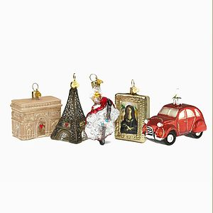 Christmas Decorations Little Paris Set