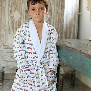 Tractor Colour Dressing Gown - nightwear