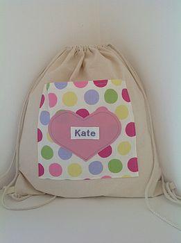 Personalised Kit Bag: Spotty Dotty