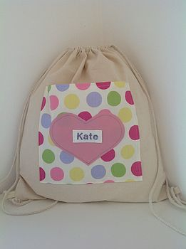Personalised Kit Bag: Spotty Dotty