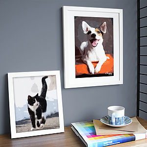 Personalised Pet Portrait Print - art by category