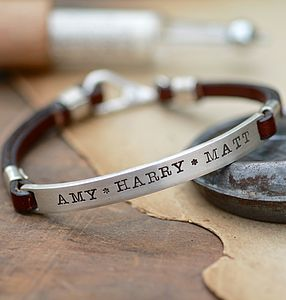 Personalised Brown Urban Ranch Mens Bracelet - gifts for him