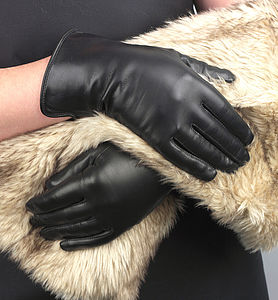 Eve. Women's Silk Lined Leather Gloves - hats, scarves & gloves