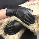 Eve. Women's Silk Lined Leather Gloves