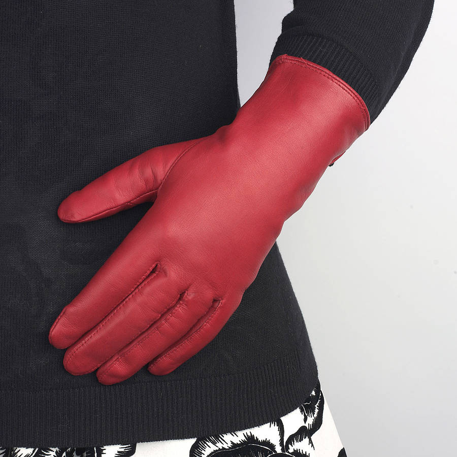 Best womens leather gloves -  Leather Gloves Las Red Gloves Gloves