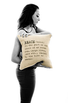 'Beach' Definition Cushion Cover