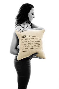 'Beach' Definition Cushion Cover - cushions