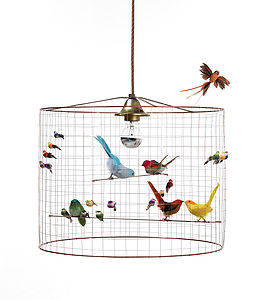 Bird Cage Chandelier - ceiling lights