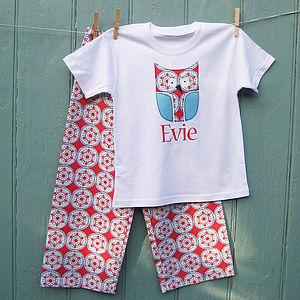 Christmas Personalised Nordic Owl Pyjama Set - children's christmas clothing