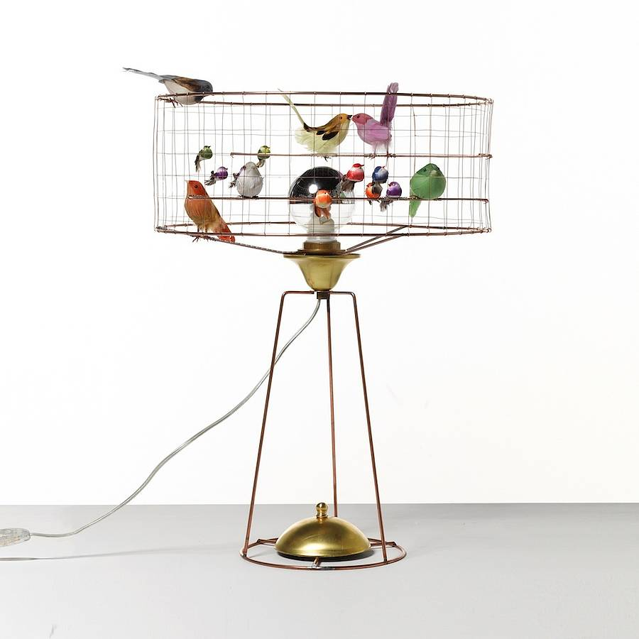Copper Bird Cage Table Lamp By I Love Retro