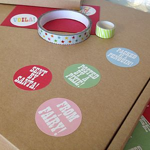 Christmas Parcel And Present Stickers - cards & wrap