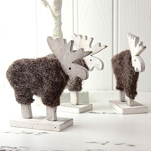 'Rustic' Wooden Moose Decoration
