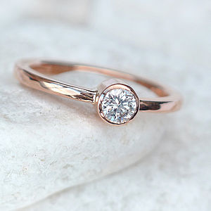 Diamond Engagement Ring In 18ct Rose Gold - rings