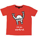 I'm In Control Navy Or Red T Shirt