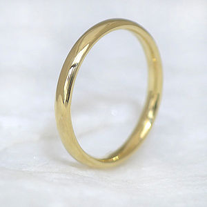 Comfort Fit Wedding Ring In 18ct Gold - rings
