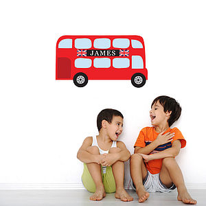 Personalised Childrens Bus Wall Stickers - decorative accessories