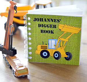 Boys Digger Notebook - notebooks & journals
