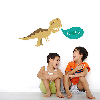 Personalised Dinosaur Childrens Wall Stickers