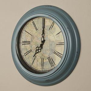 Antique Atlas Wall Clock - living room