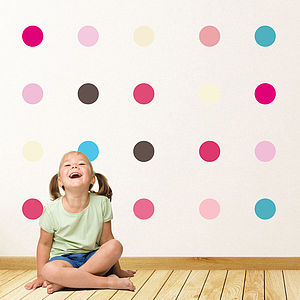 Childrens Spots Wall Stickers