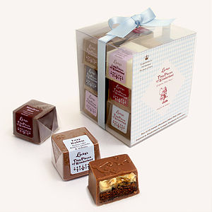Gift Box Of 12 Cake Filled Chocolates - chocolates