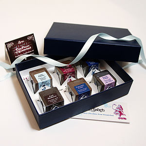 Gift Box Of Six Chocolates Filled With Cakes - gourmet