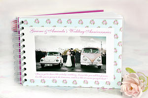Personalised Anniversary Book - albums & keepsakes