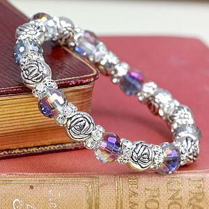 Rose And Rainbow Crystal Bracelet - bracelets & bangles
