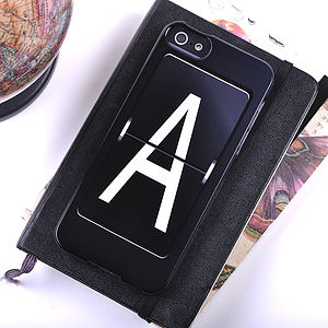 Personalised Mechanical Letter iPhone Case - tech accessories for her