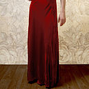 1940s Style Maxi Dress In Deep Red Silk Velvet