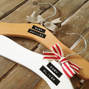 Personalised Wooden Baby Clothes Hanger - bathroom