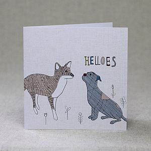 Dog And Fox Children's Birthday Card - birthday cards